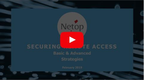 Securing Remote Access Webinar Recording
